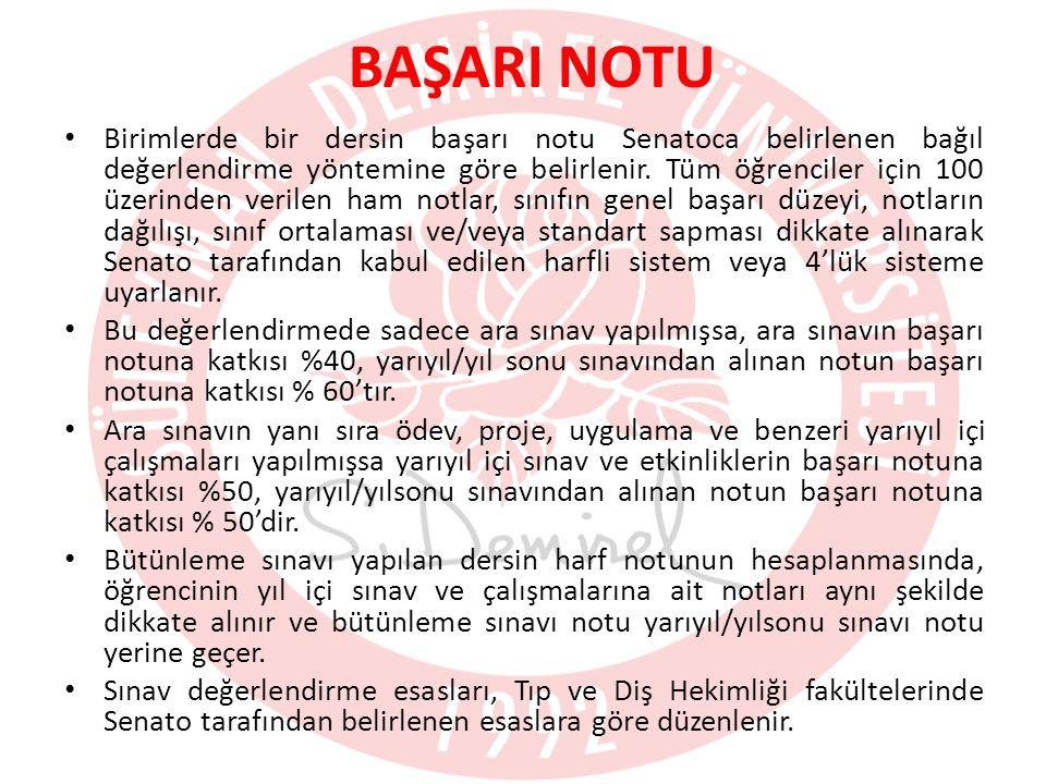 BAŞARI NOTU