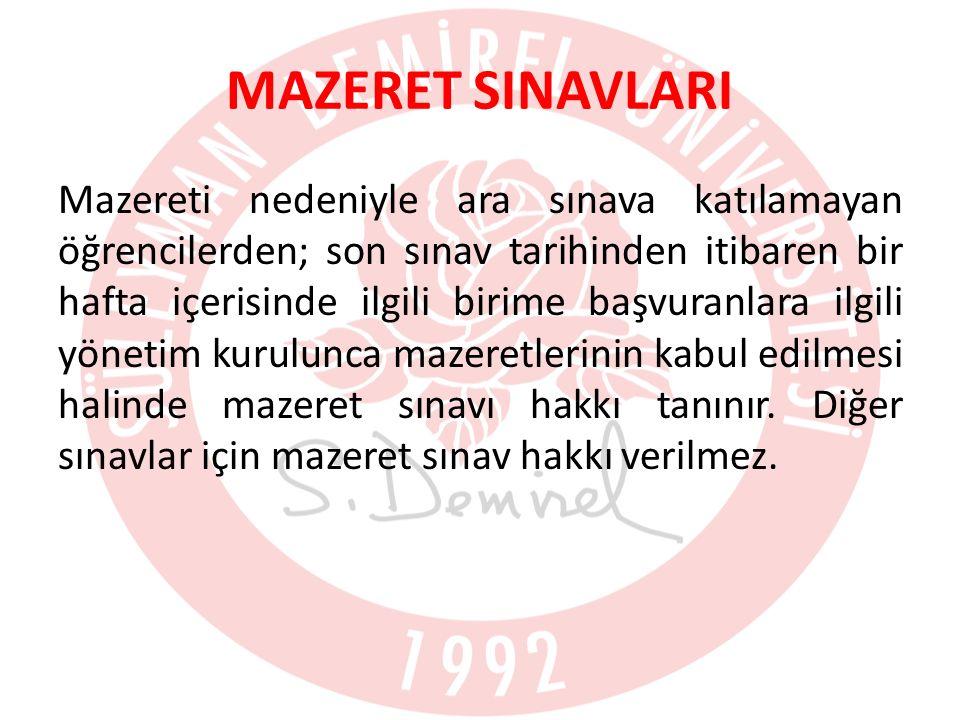 MAZERET SINAVLARI