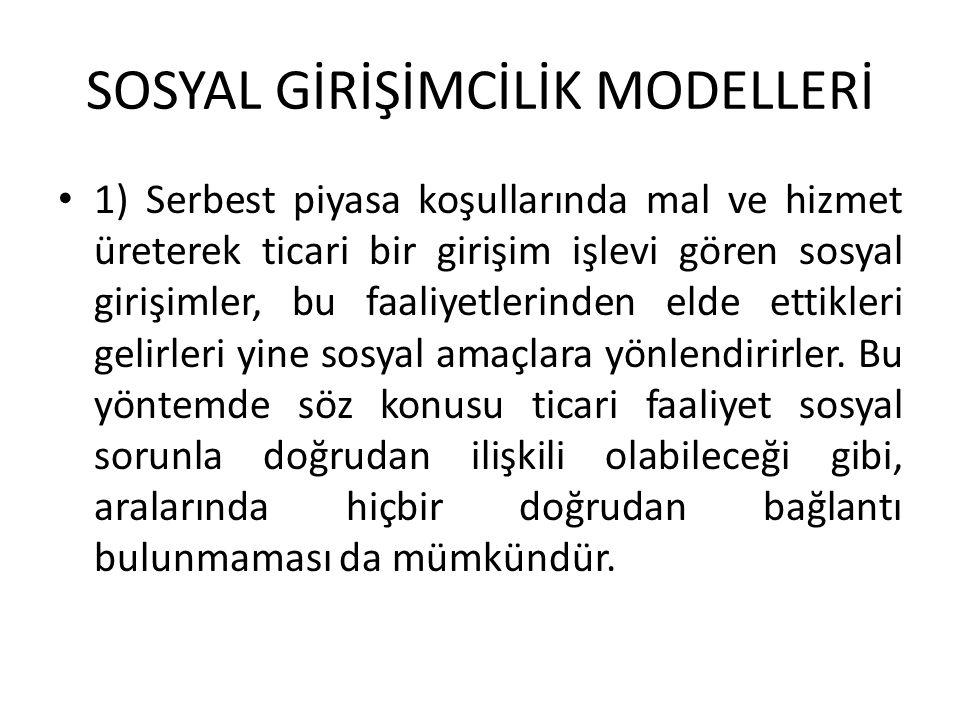SOSYAL GİRİŞİMCİLİK MODELLERİ