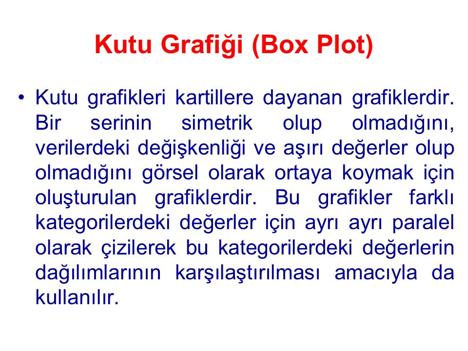Kutu Grafiği (Box Plot)