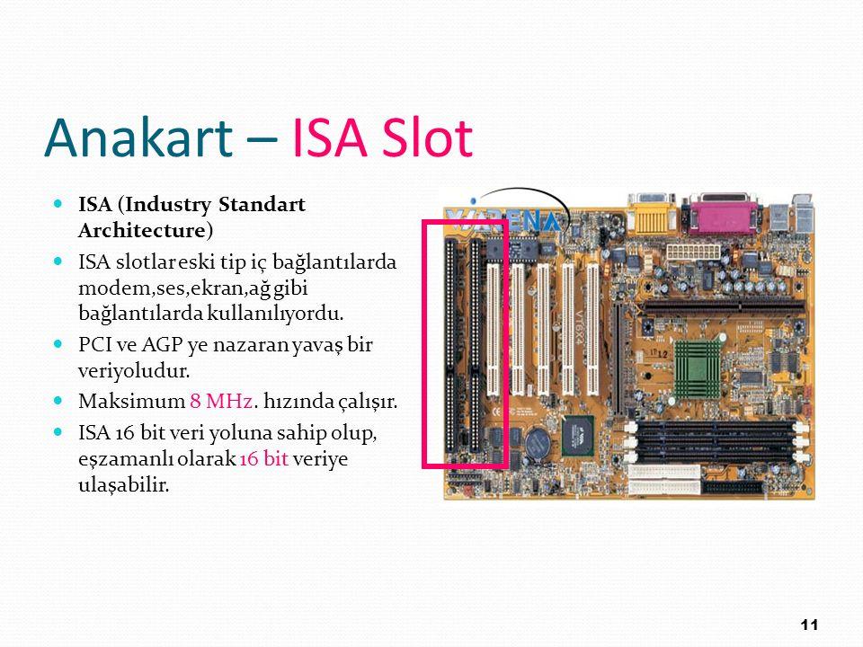 Anakart – ISA Slot ISA (Industry Standart Architecture)