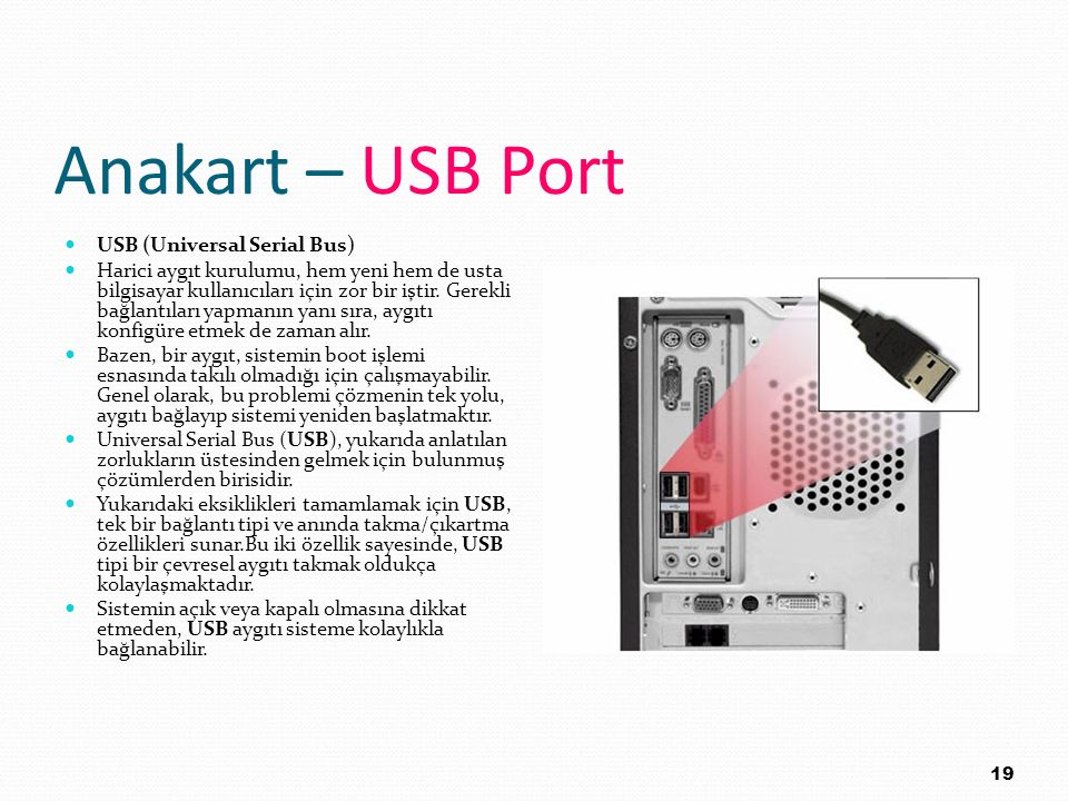 Anakart – USB Port USB (Universal Serial Bus)