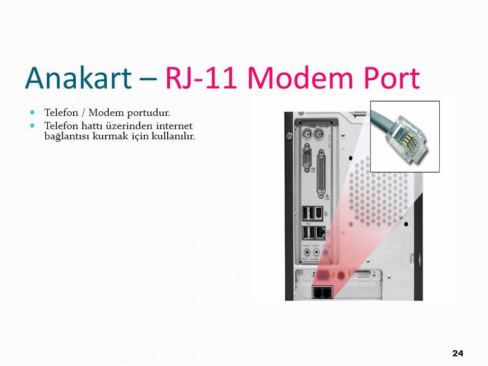 Anakart – RJ-11 Modem Port