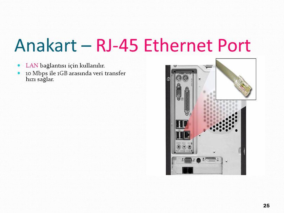 Anakart – RJ-45 Ethernet Port