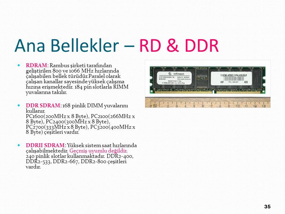 Ana Bellekler – RD & DDR