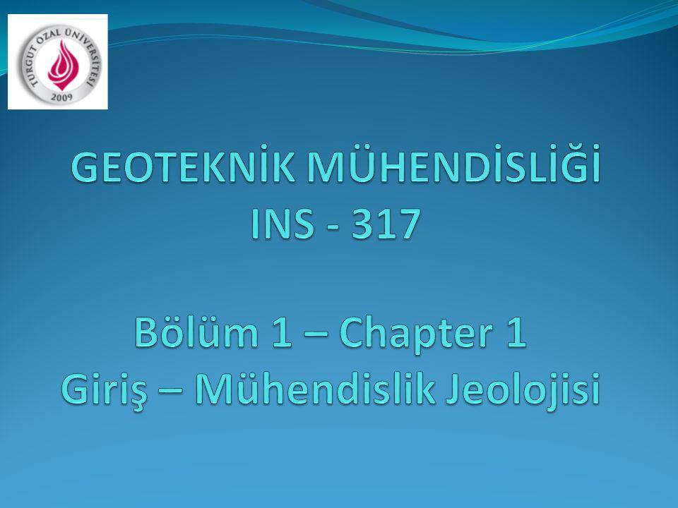 GEOTEKNİK MÜHENDİSLİĞİ INS - 317