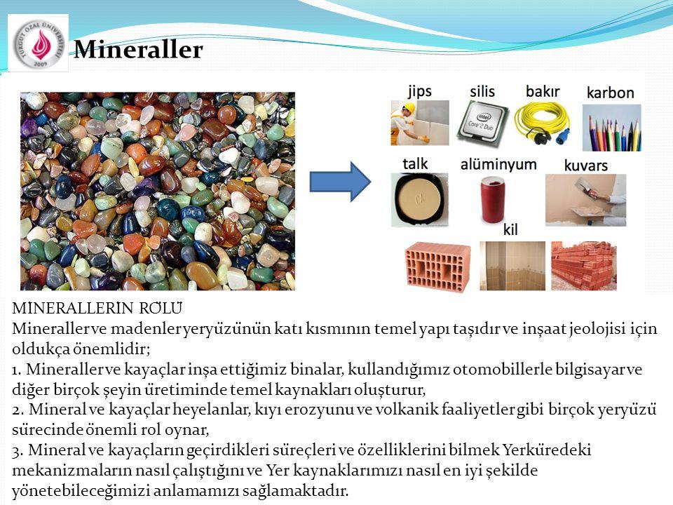 Mineraller  MİNERALLERİN RÖLÜ