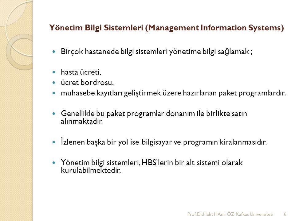Yönetim Bilgi Sistemleri (Management Information Systems)