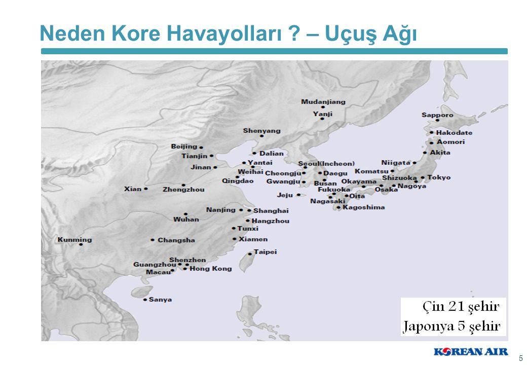 Neden Kore Havayolları – Uçuş Ağı