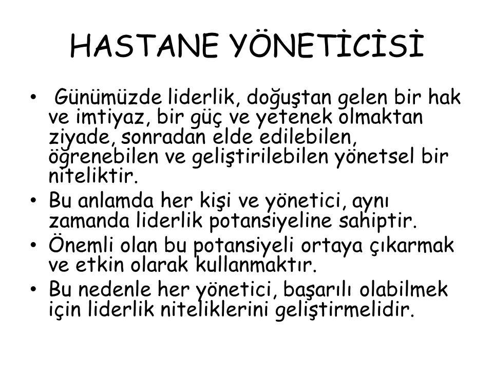 HASTANE YÖNETİCİSİ