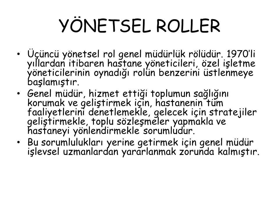 YÖNETSEL ROLLER
