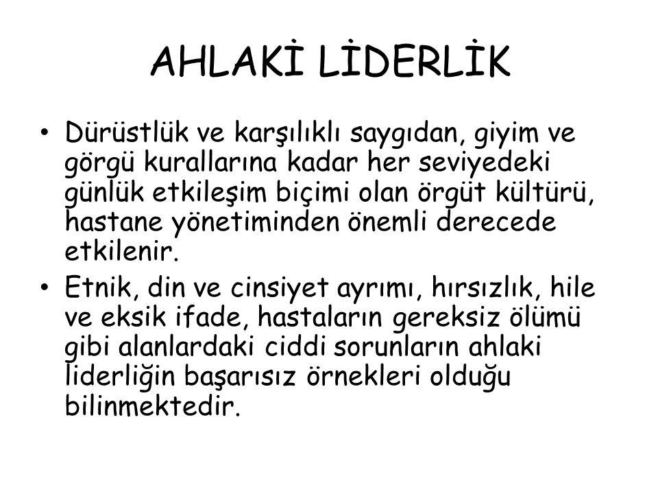 AHLAKİ LİDERLİK