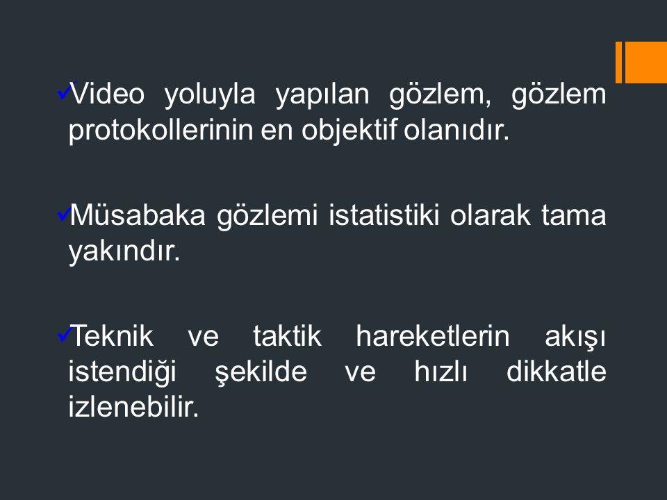 Video yoluyla yapılan gözlem, gözlem protokollerinin en objektif olanıdır.