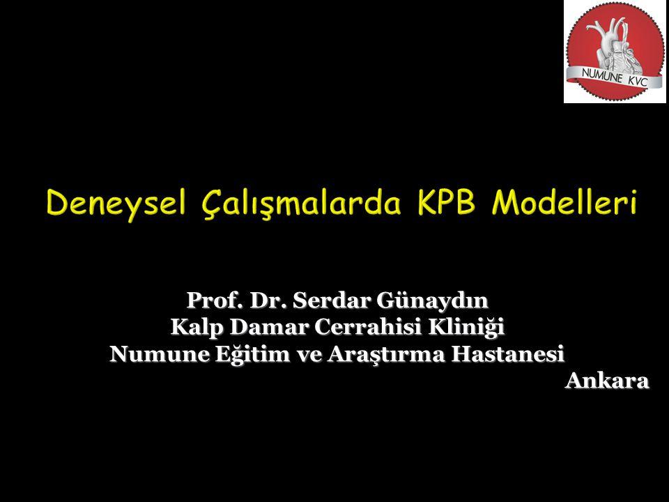 Deneysel Çalışmalarda KPB Modelleri