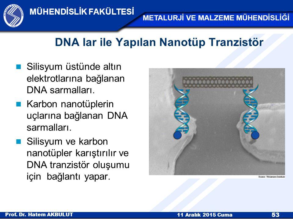 DNA lar ile Yapılan Nanotüp Tranzistör