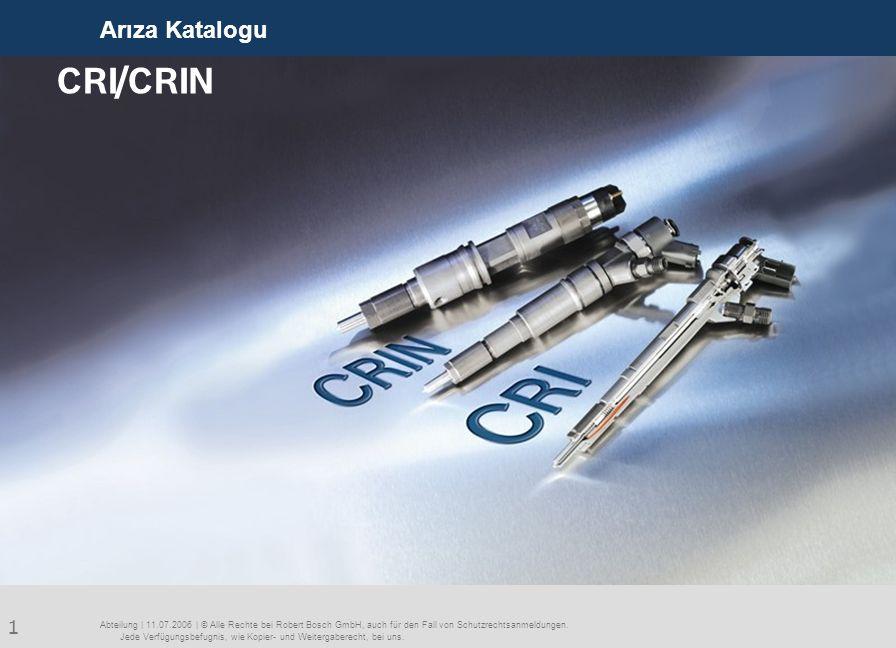 CRI/CRIN Arıza Katalogu