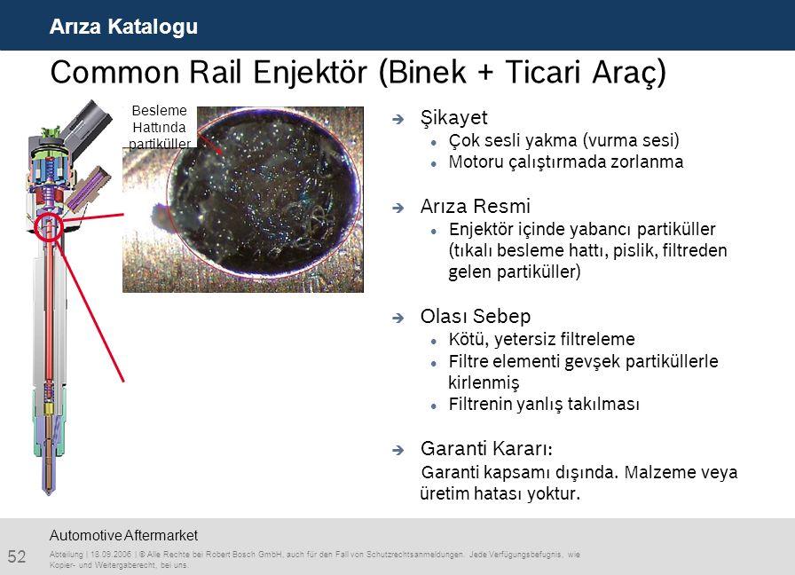 Common Rail Enjektör (Binek + Ticari Araç)