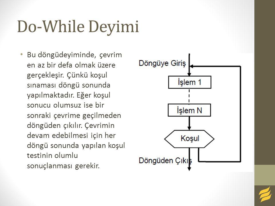 Do-While Deyimi