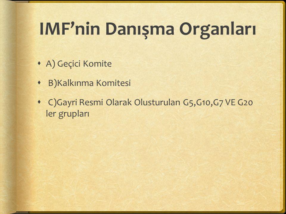 IMF'nin Danışma Organları