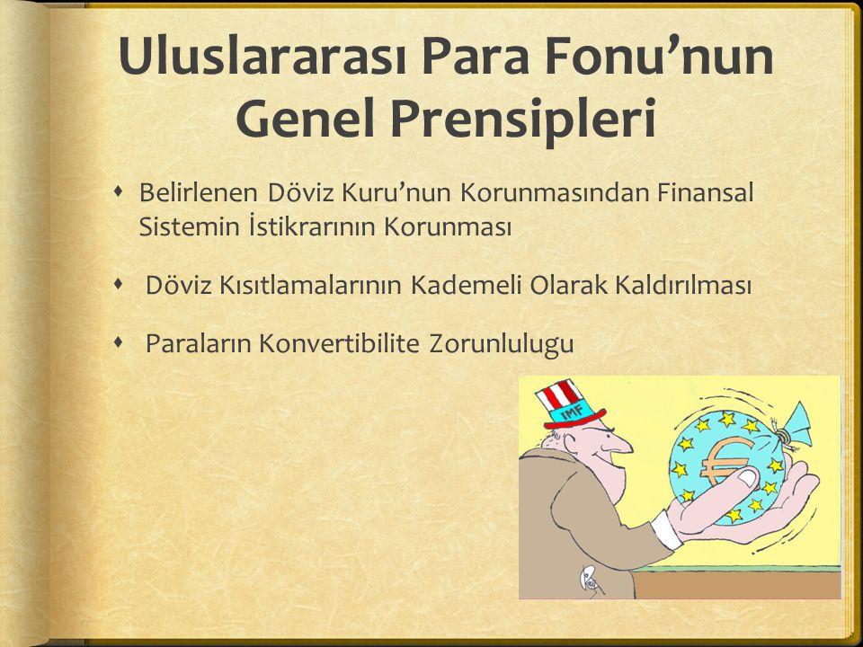 Uluslararası Para Fonu'nun Genel Prensipleri
