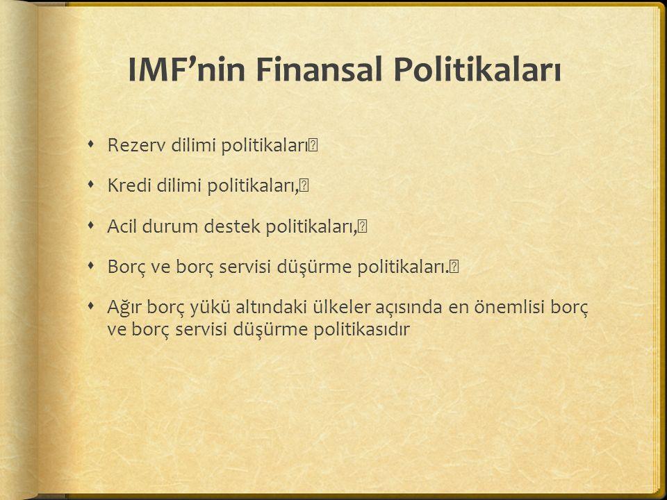 IMF'nin Finansal Politikaları