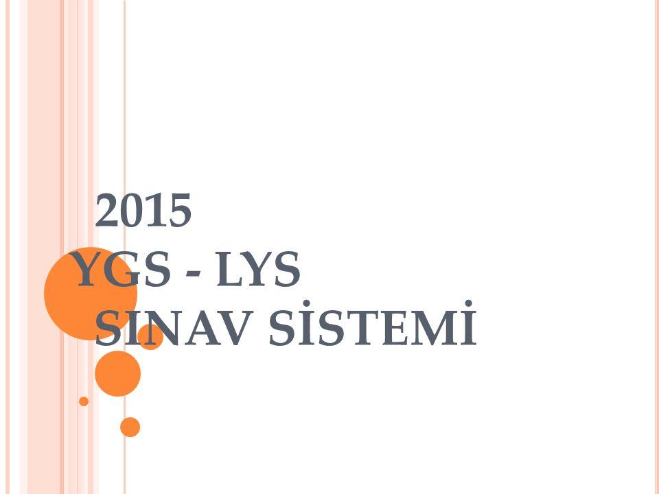 2015 YGS - LYS SINAV SİSTEMİ