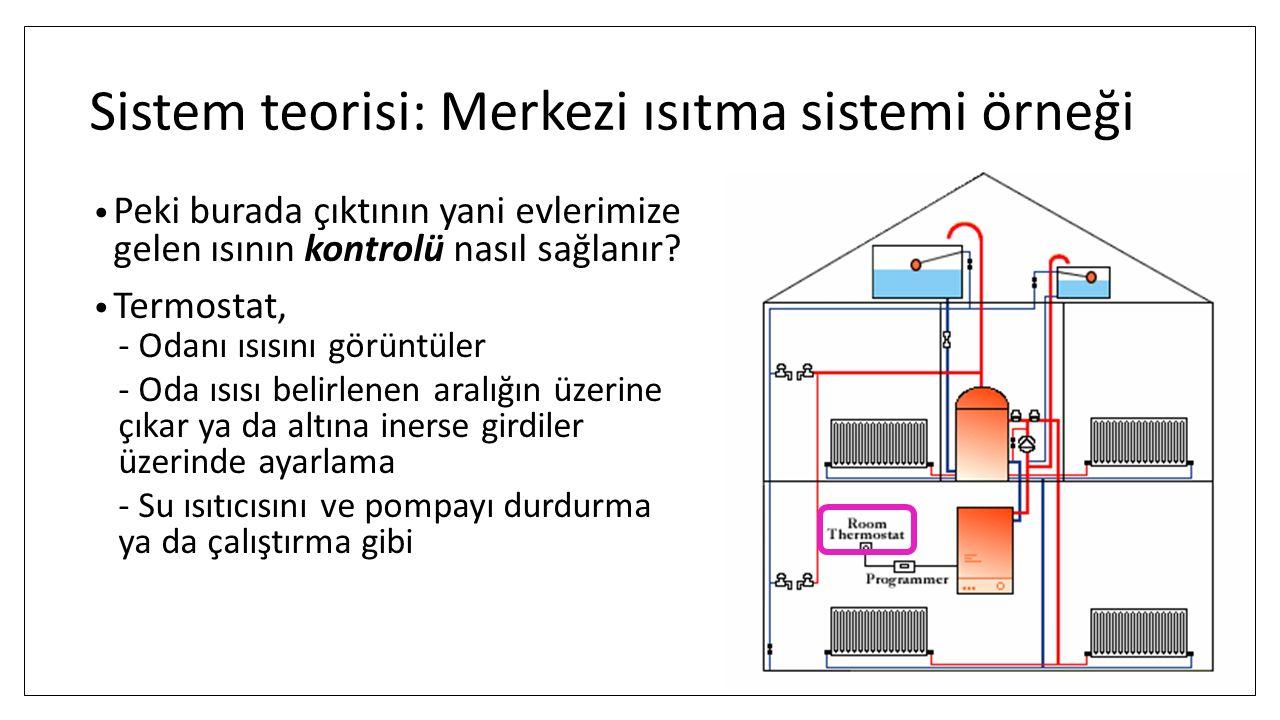 Sistem teorisi: Merkezi ısıtma sistemi örneği
