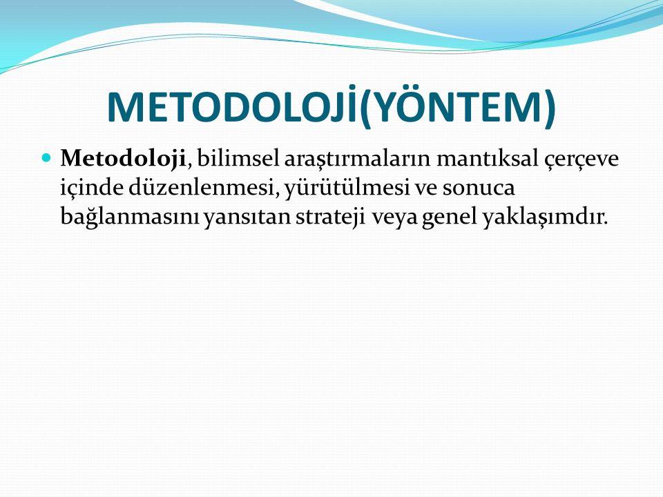 METODOLOJİ(YÖNTEM)