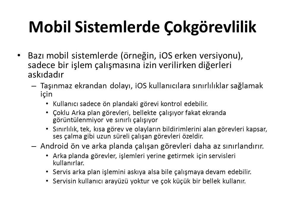 Mobil Sistemlerde Çokgörevlilik