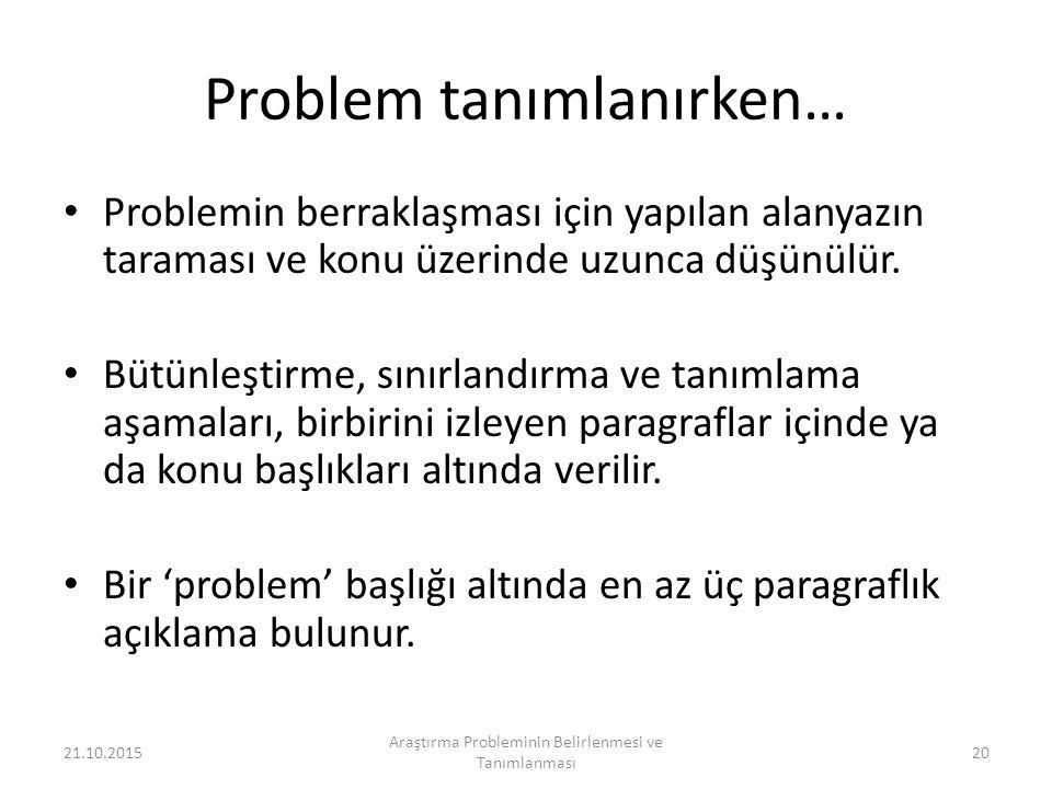 Problem tanımlanırken…
