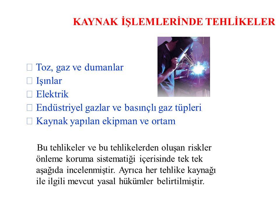 KAYNAK İŞLEMLERİNDE TEHLİKELER