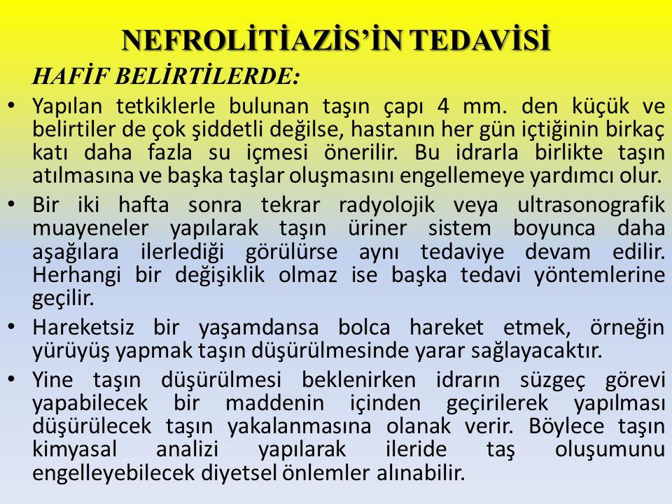 NEFROLİTİAZİS'İN TEDAVİSİ