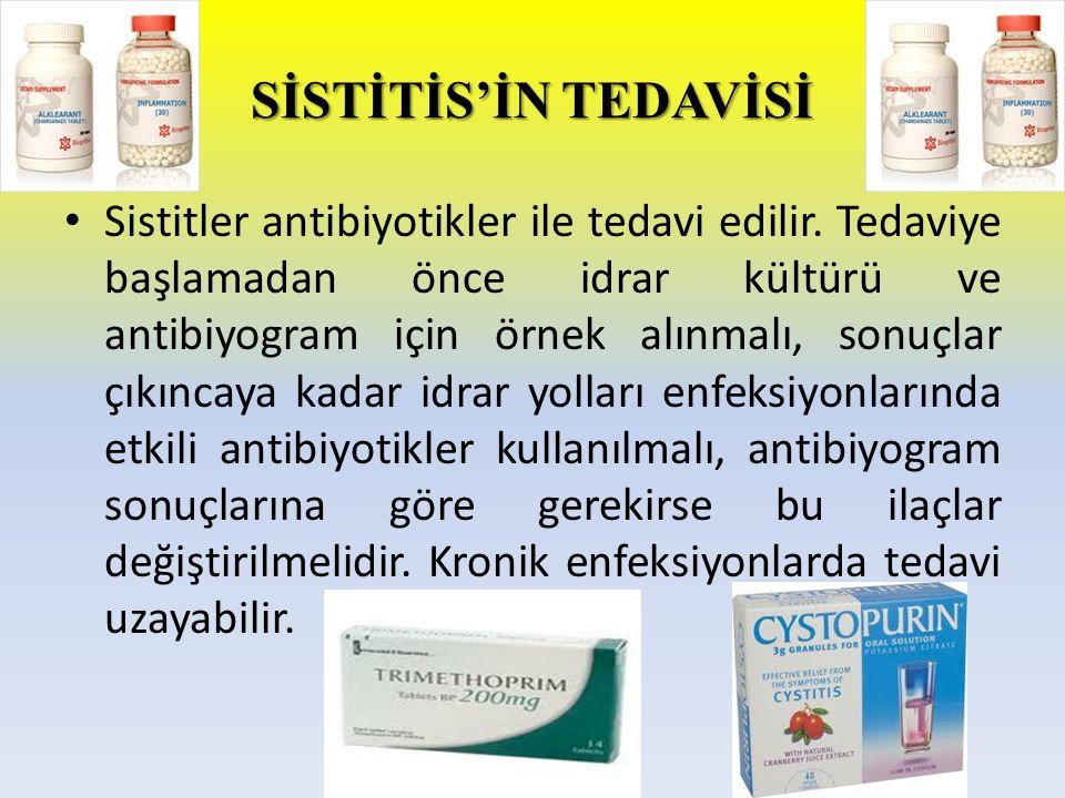 SİSTİTİS'İN TEDAVİSİ