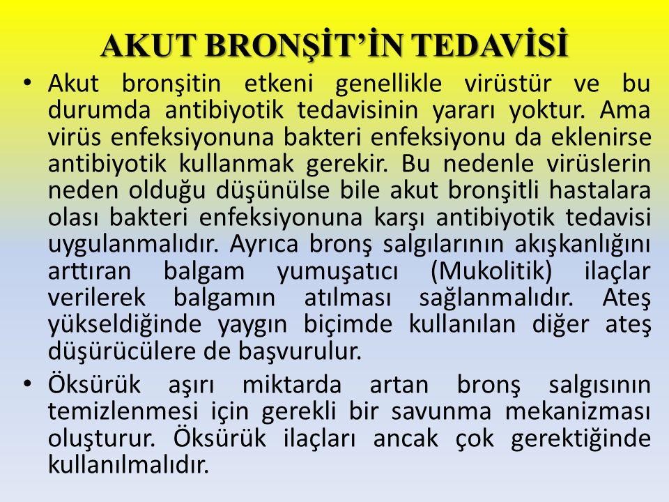AKUT BRONŞİT'İN TEDAVİSİ