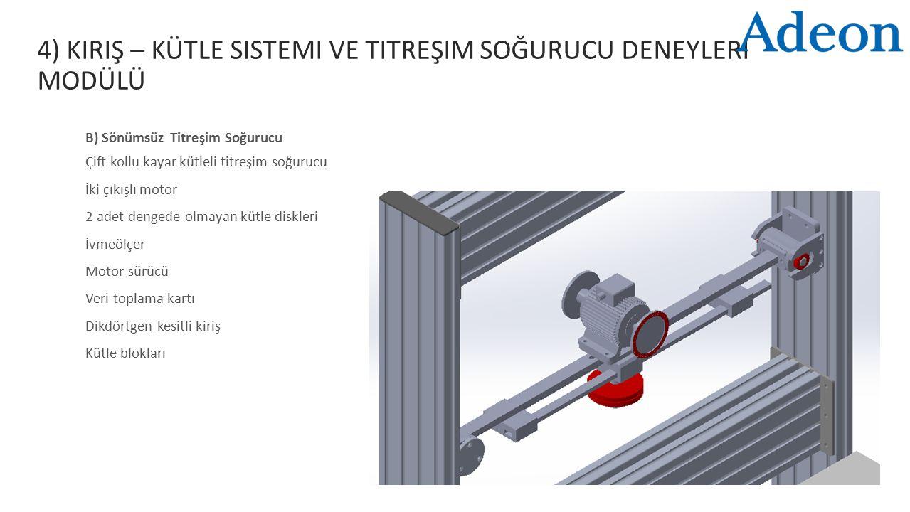 4) Kiriş – Kütle Sistemi ve Titreşim Soğurucu Deneyleri Modülü