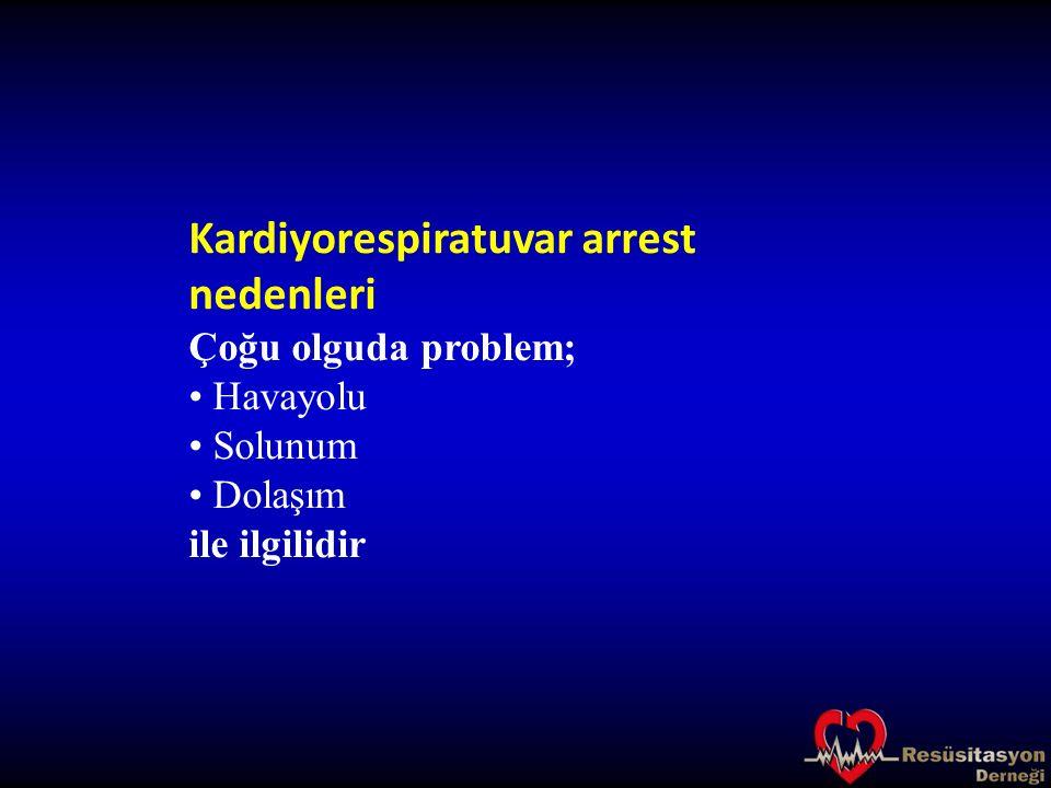 Kardiyorespiratuvar arrest nedenleri