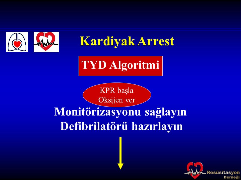 Kardiyak Arrest TYD Algoritmi Monitörizasyonu sağlayın