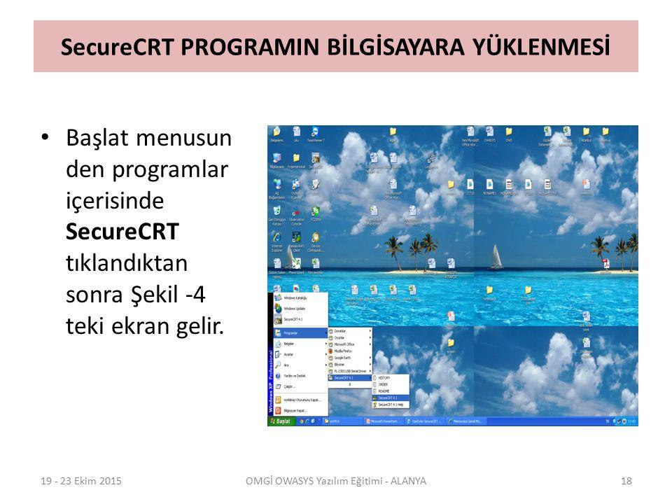 SecureCRT PROGRAMIN BİLGİSAYARA YÜKLENMESİ