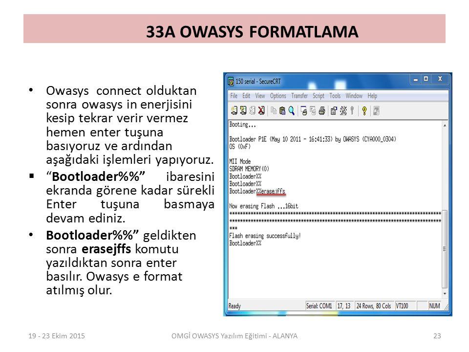 OMGİ OWASYS Yazılım Eğitimi - ALANYA