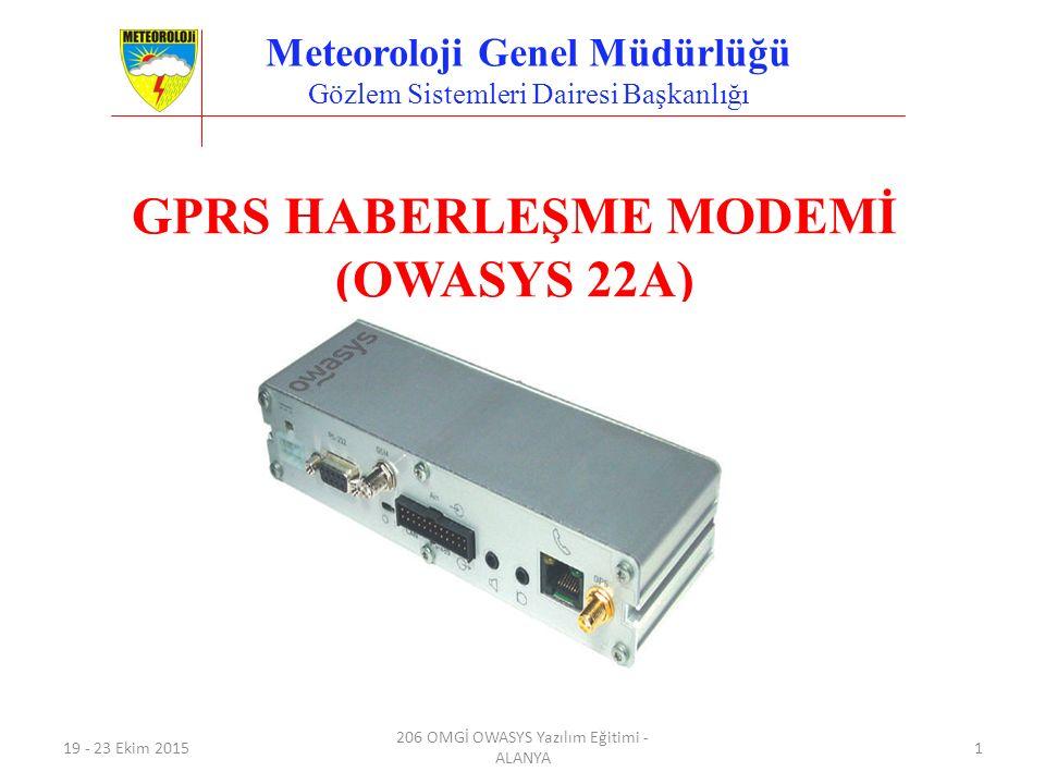 Meteoroloji Genel Müdürlüğü GPRS HABERLEŞME MODEMİ