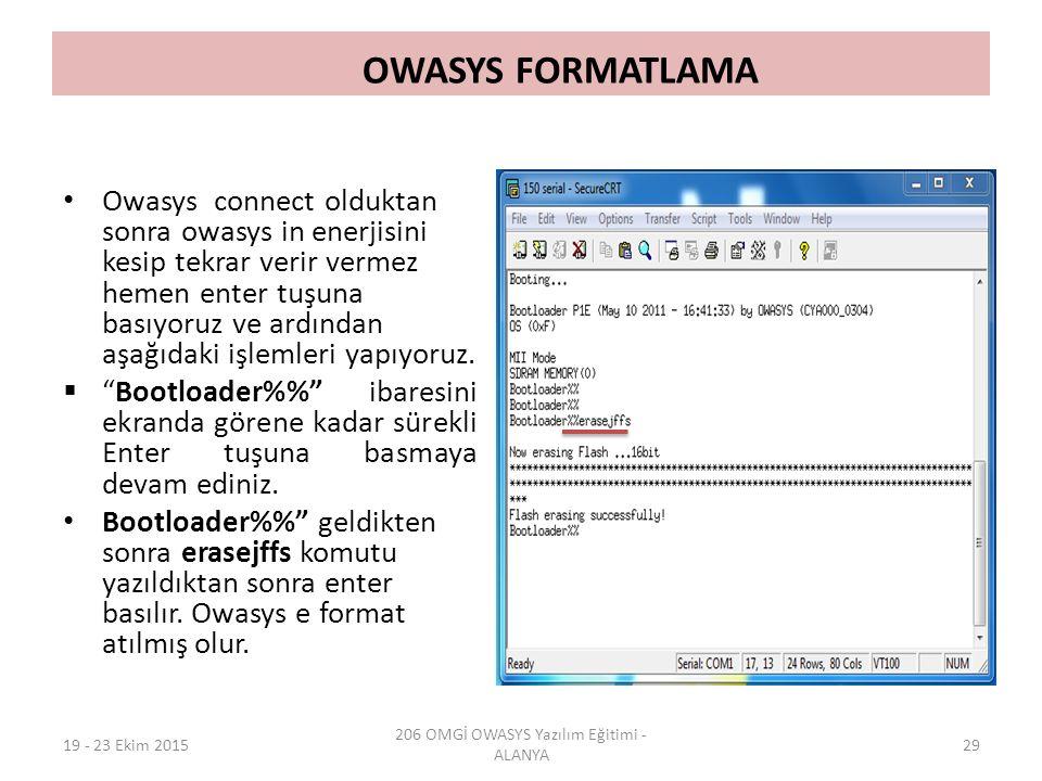 206 OMGİ OWASYS Yazılım Eğitimi - ALANYA