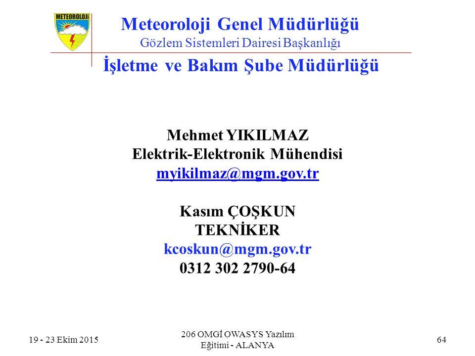 Meteoroloji Genel Müdürlüğü İşletme ve Bakım Şube Müdürlüğü
