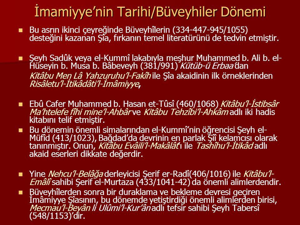 İmamiyye'nin Tarihi/Büveyhiler Dönemi