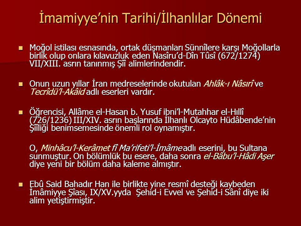 İmamiyye'nin Tarihi/İlhanlılar Dönemi