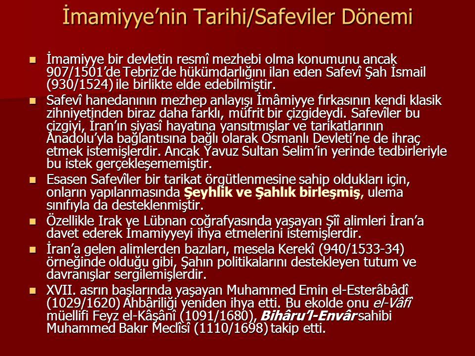 İmamiyye'nin Tarihi/Safeviler Dönemi