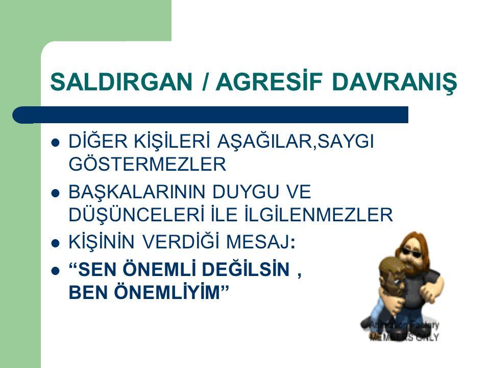 SALDIRGAN / AGRESİF DAVRANIŞ