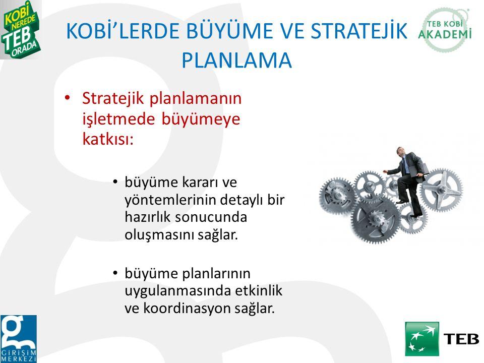 KOBİ'LERDE BÜYÜME VE STRATEJİK PLANLAMA
