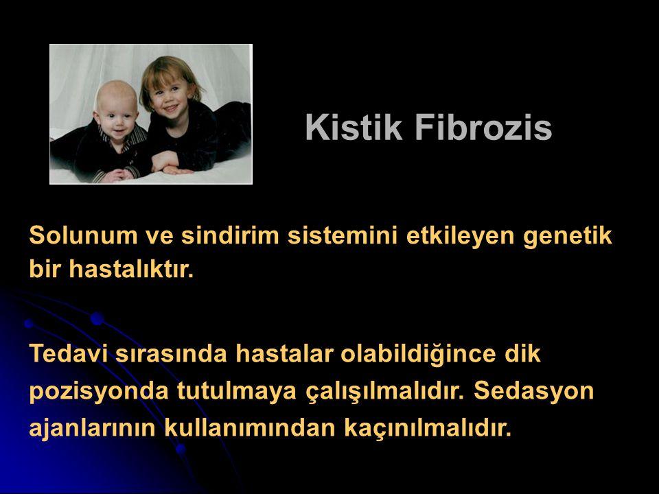 Kistik Fibrozis Solunum ve sindirim sistemini etkileyen genetik bir hastalıktır.