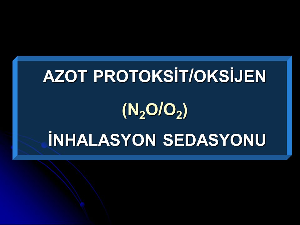 AZOT PROTOKSİT/OKSİJEN