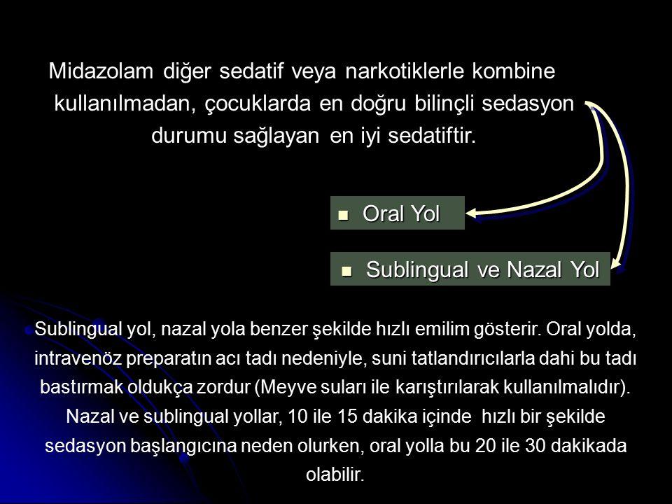 Sublingual ve Nazal Yol